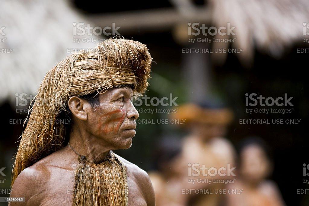 Amazon Tribe Chief. stock photo