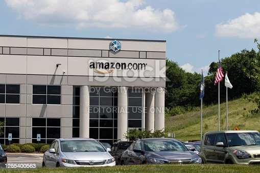 Hebron - Circa July 2020: Amazon.com Fulfillment Center. Amazon is the Largest Internet-Based Retailer in the US and celebrates Prime Day.