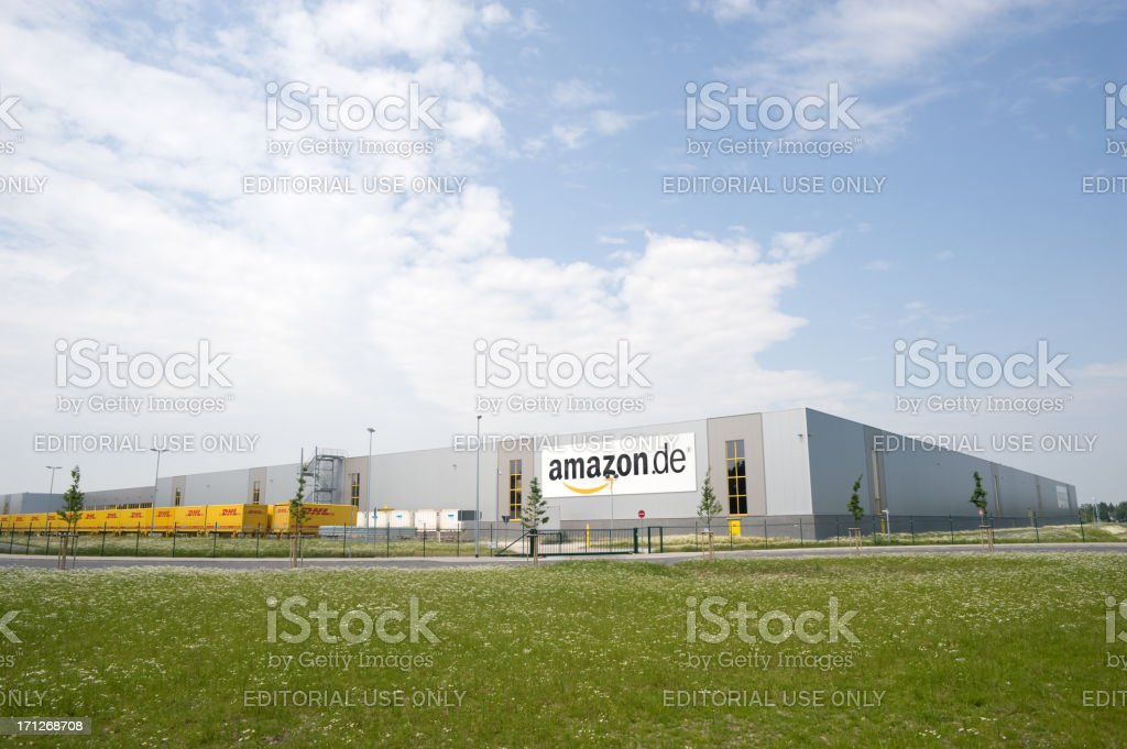 Amazon.de ,  DHL logistic and distribution hub royalty-free stock photo