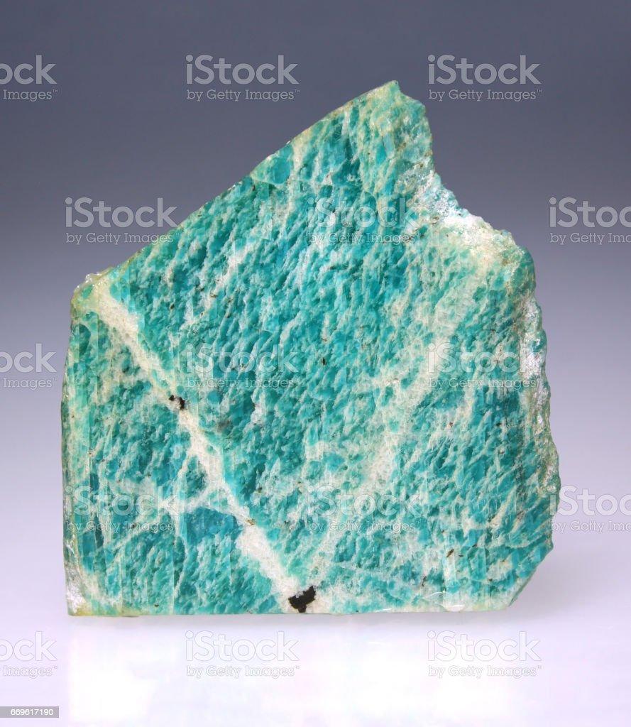 Amazonite mineral macro stock photo
