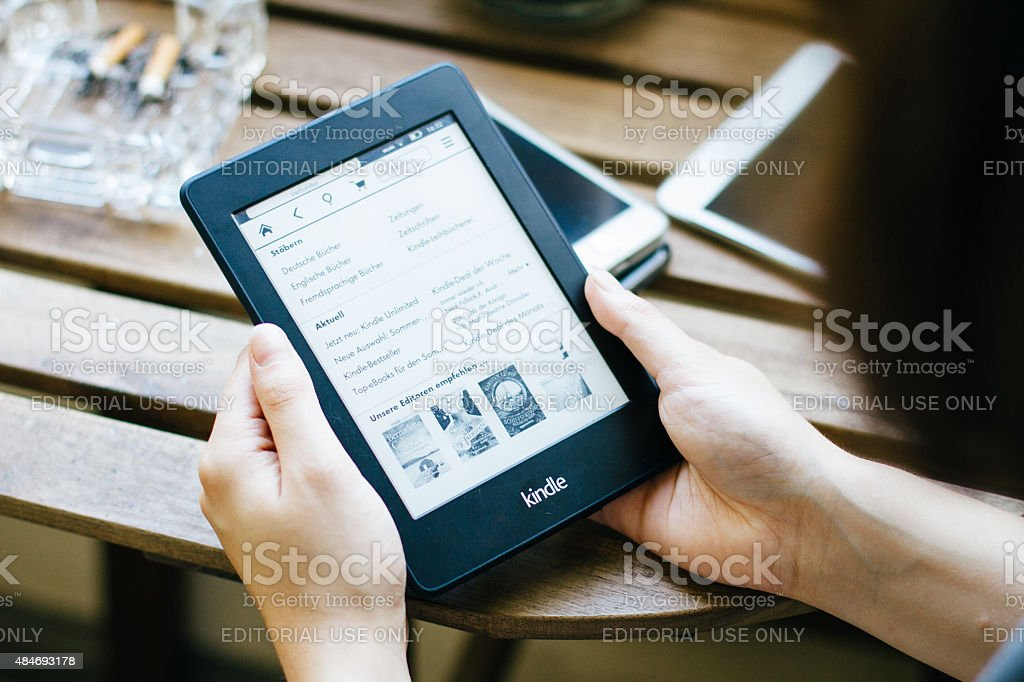 amazons kindle stock photo