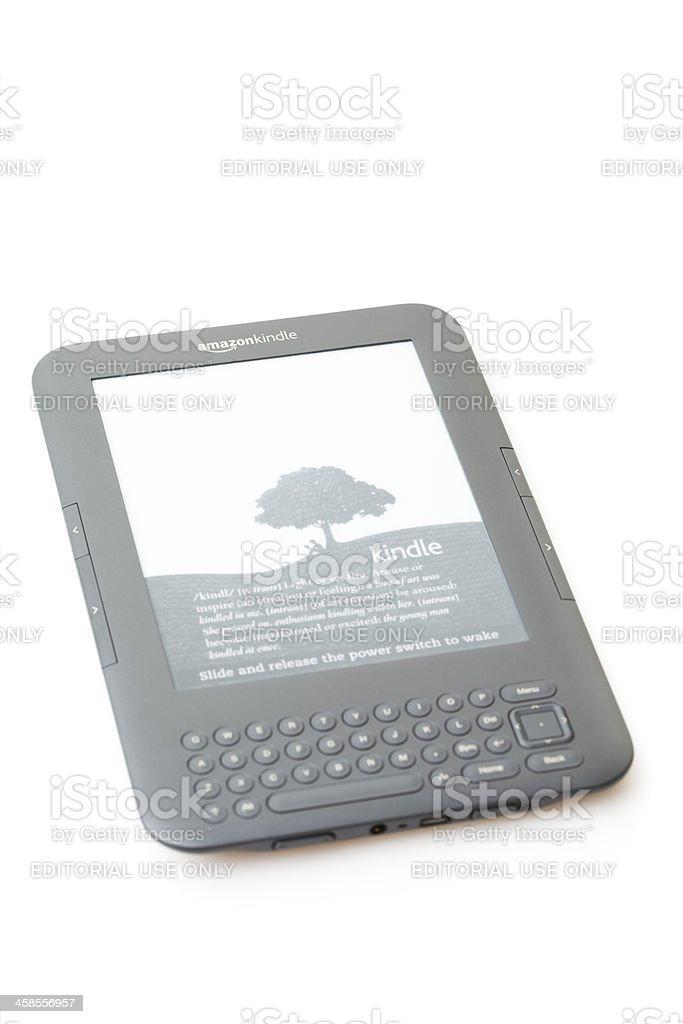 Amazon's Kindle Wireless Reading Device royalty-free stock photo