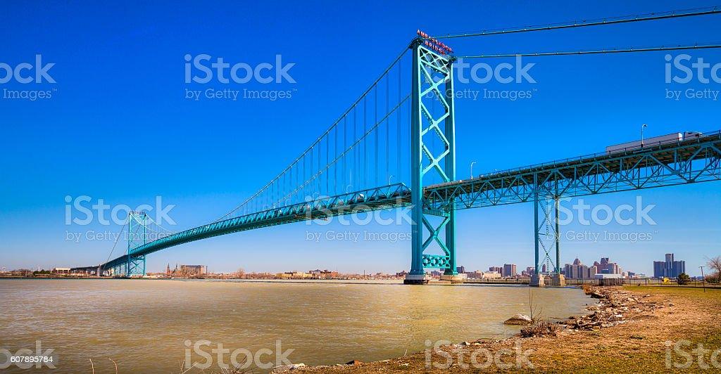 Ambassador Bridge stock photo