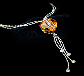 Amber and Diamond Necklace