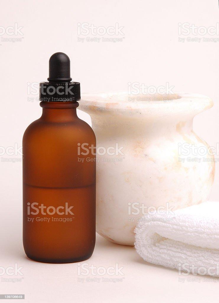 Amber Bottle stock photo