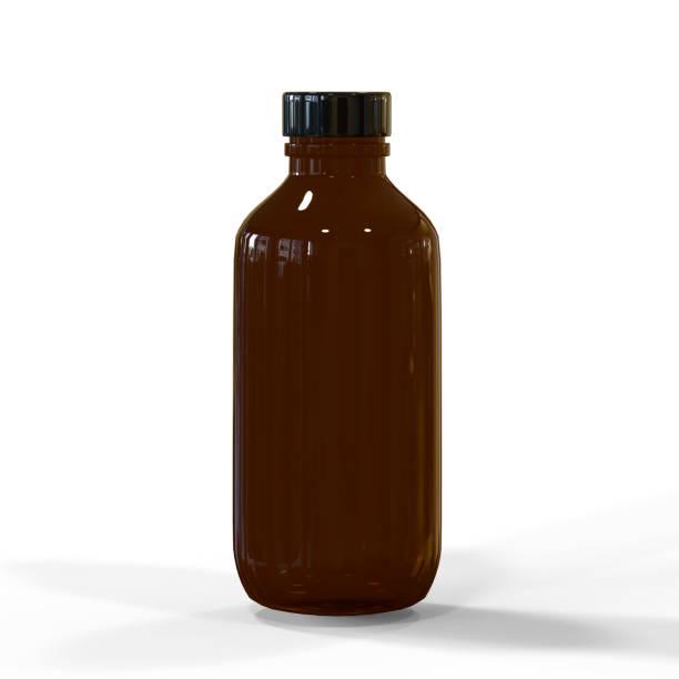 bernstein kosmetik und medizinische flasche - braunglasflaschen stock-fotos und bilder