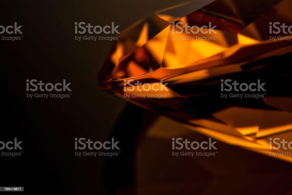 Amber diamond close up stock photo