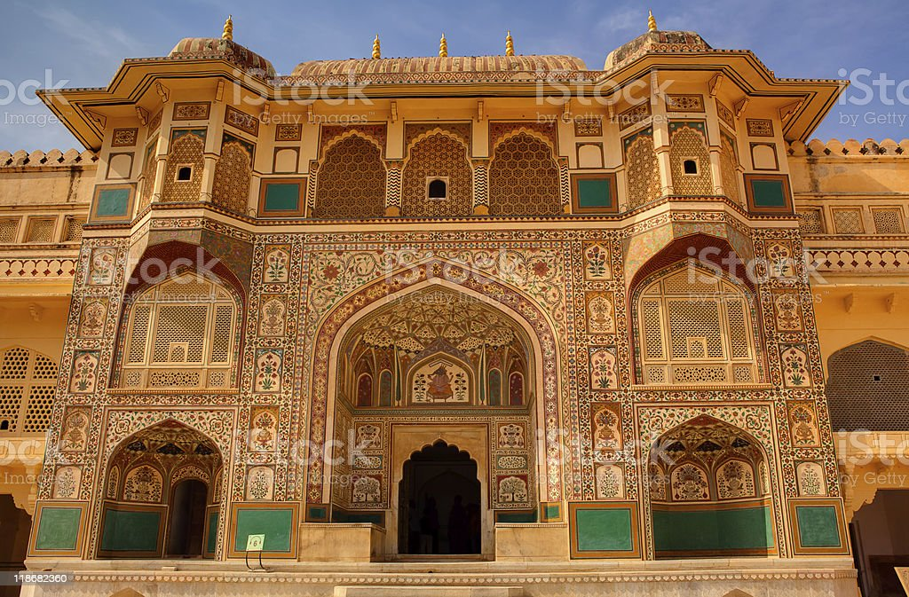 Amber Fort courtyard in jaipur rajasthan  india stock photo