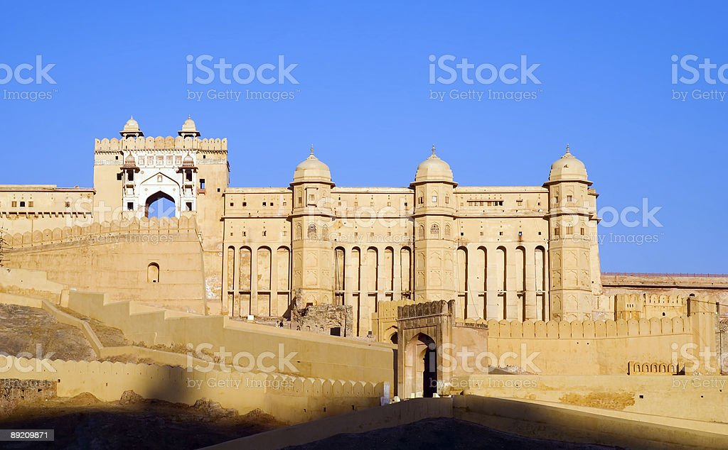 Amber Fort during the day in Jaipur, India stock photo