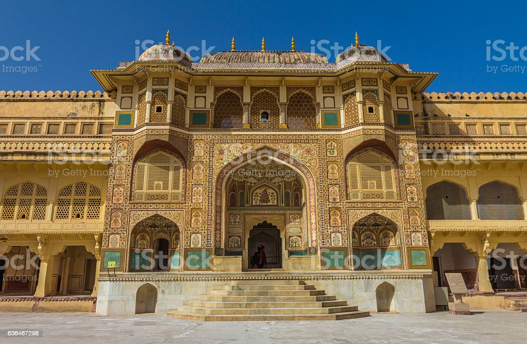 Amber Fort in Jaipur in India stock photo