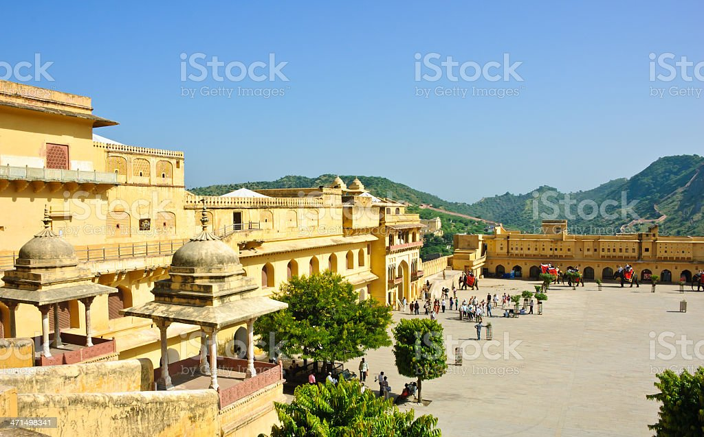 Amber Fort in Jaipur, India royalty-free stock photo