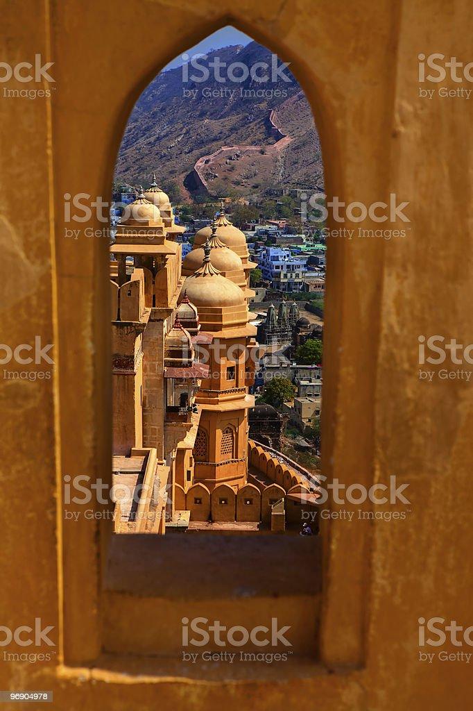 Amber Fort jaipur ajasthan india royalty-free stock photo