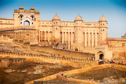 Beautiful Amber Fort in Morning Light. Jaipur, Indiahttp://refer.istockphoto.com/traffic_record.php?lc=056905042431004653&atid=6683%7CBannerID%3D6683%7CReferralMethod%3DLink