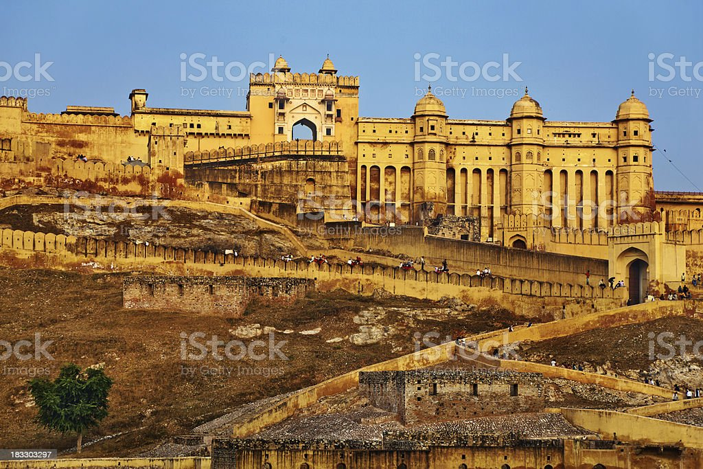 Amber Fort Jaipur, India royalty-free stock photo