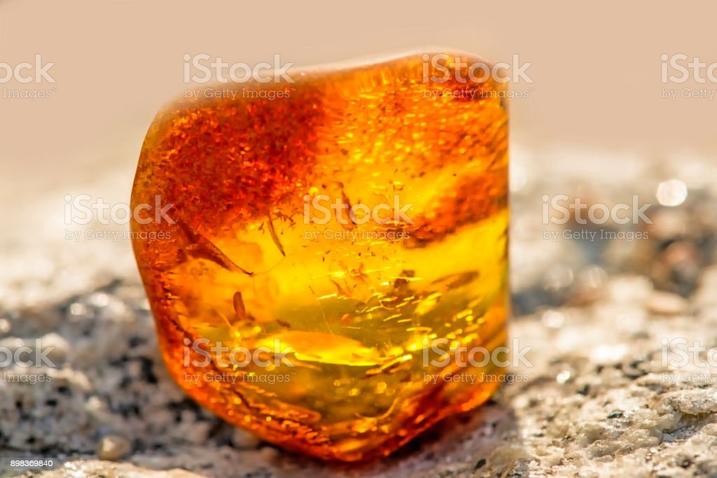 Amber on a beach of the Baltic Sea - foto stock