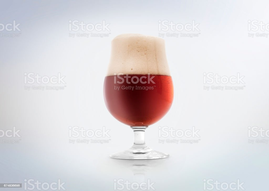 Amber or red ale beer stock photo
