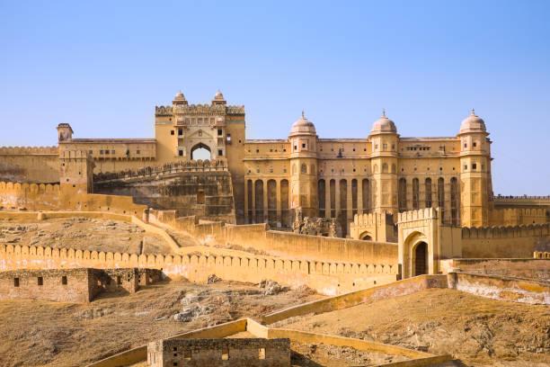amber palace, indien - fort bildbanksfoton och bilder