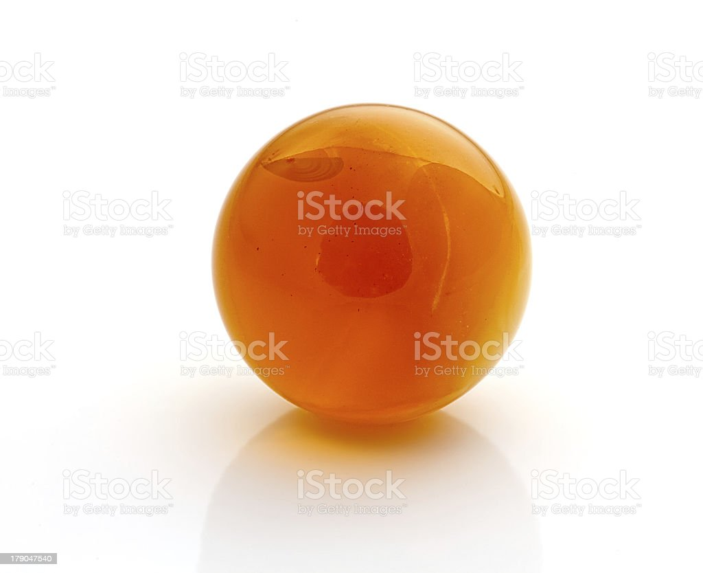 Amber spheres stock photo
