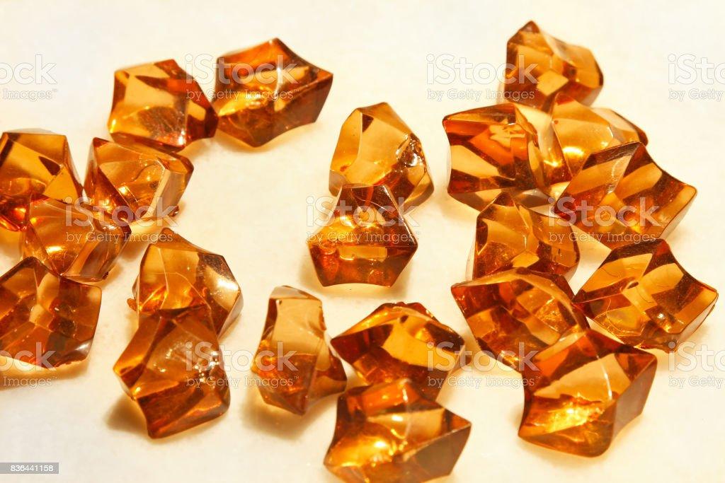 Amber stones stock photo