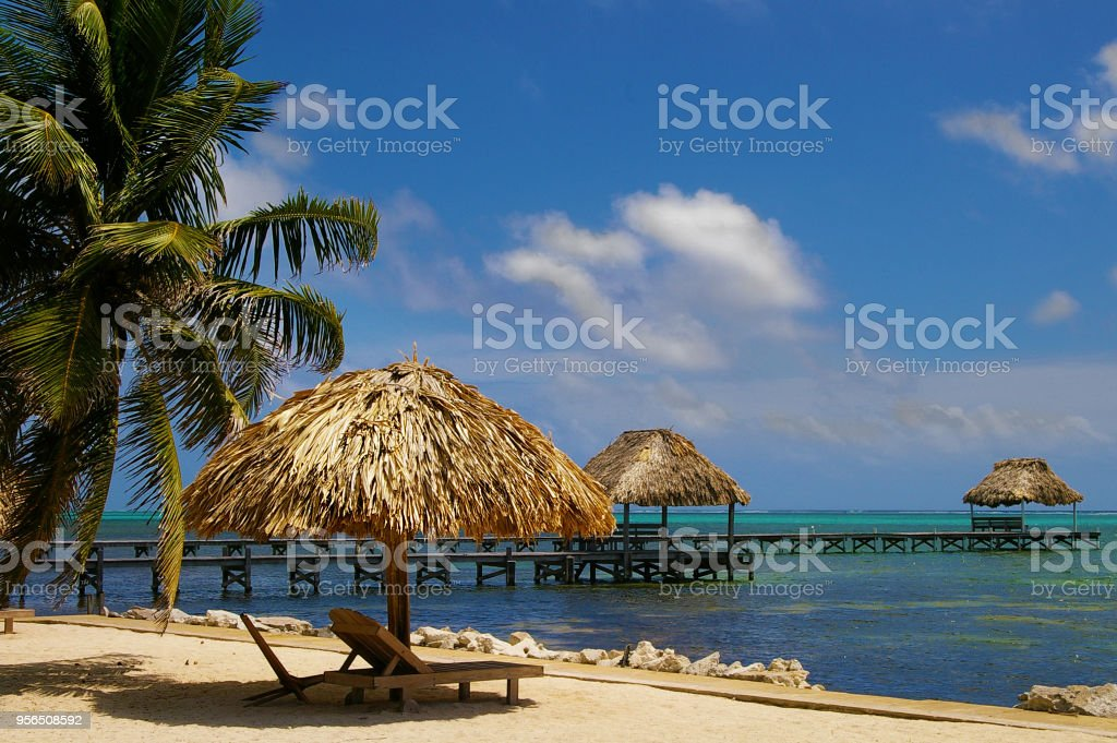 Ambergris Caye Belize stock photo