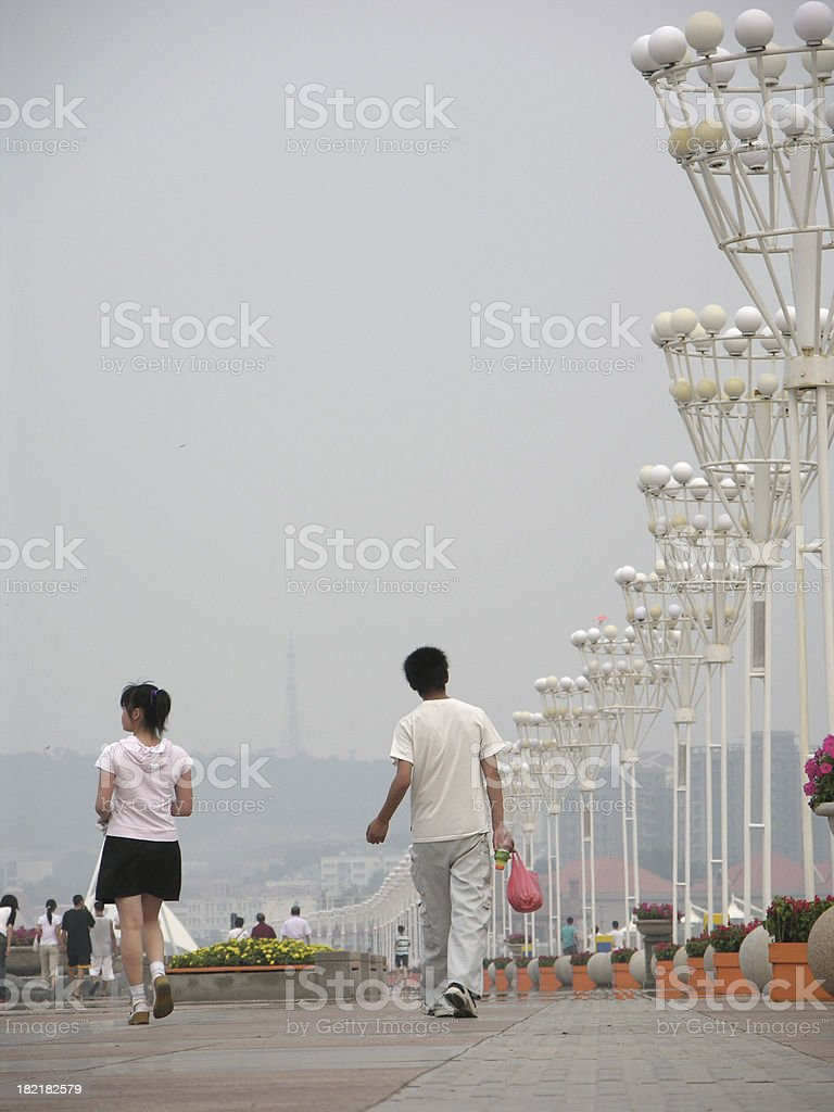 Ambience of China street life stock photo