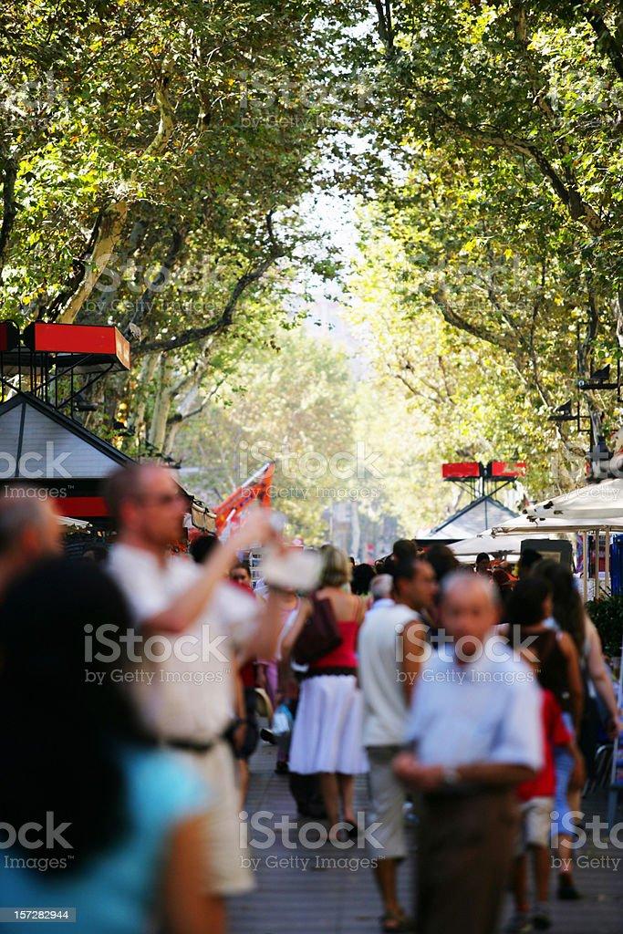 Ambient in las Ramblas of Barcelona royalty-free stock photo