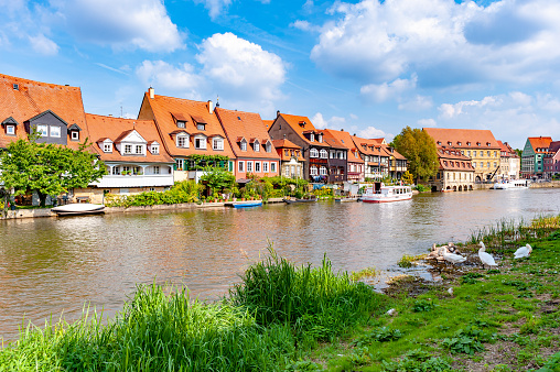 Ambiente Little Venice of Michaelsberg Abbey-Bamberg, Bavaria, Germany