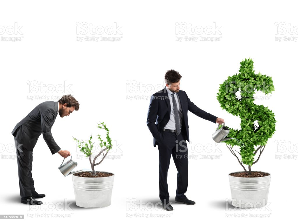 Ambition and skill of a businessman. 3D Rendering stock photo