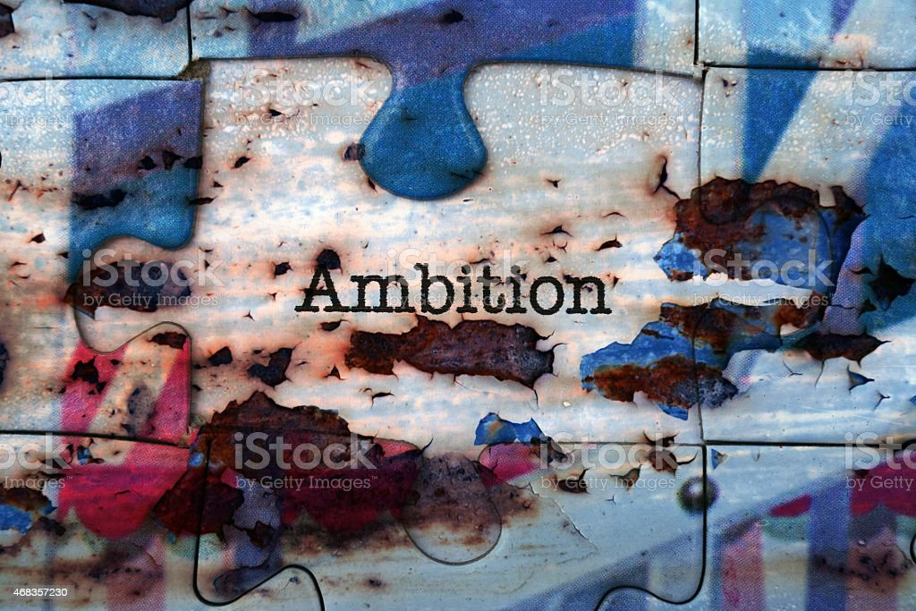 Ambition puzzle concept royalty-free stock photo