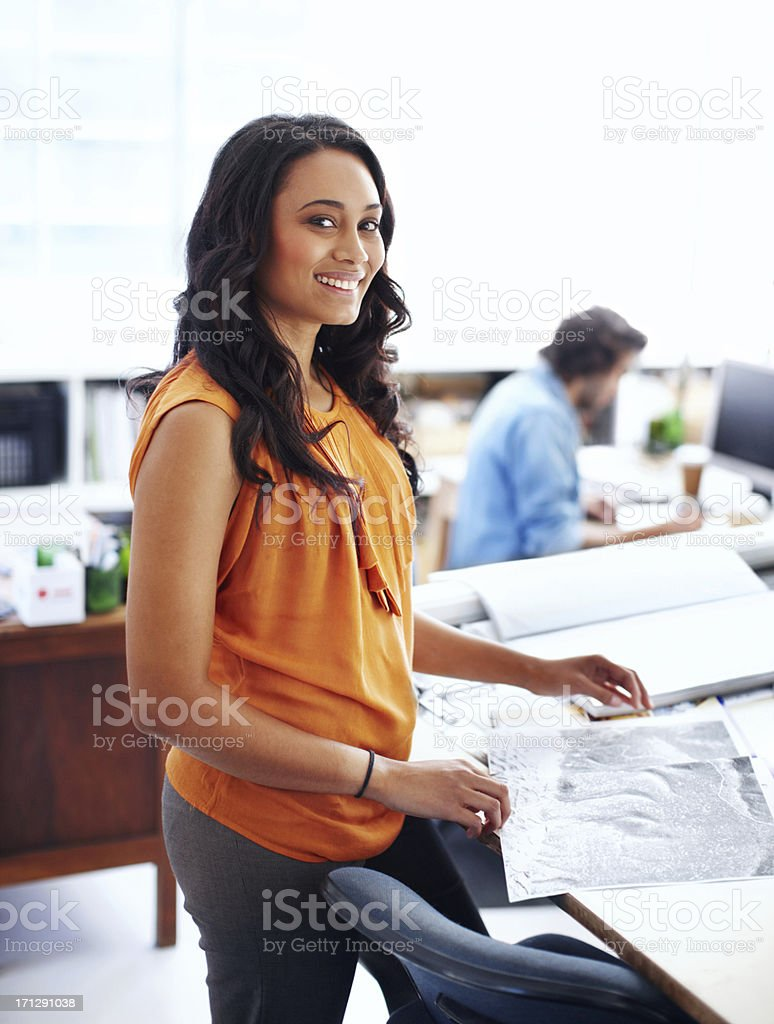 Ambitious and talented young architect royalty-free stock photo