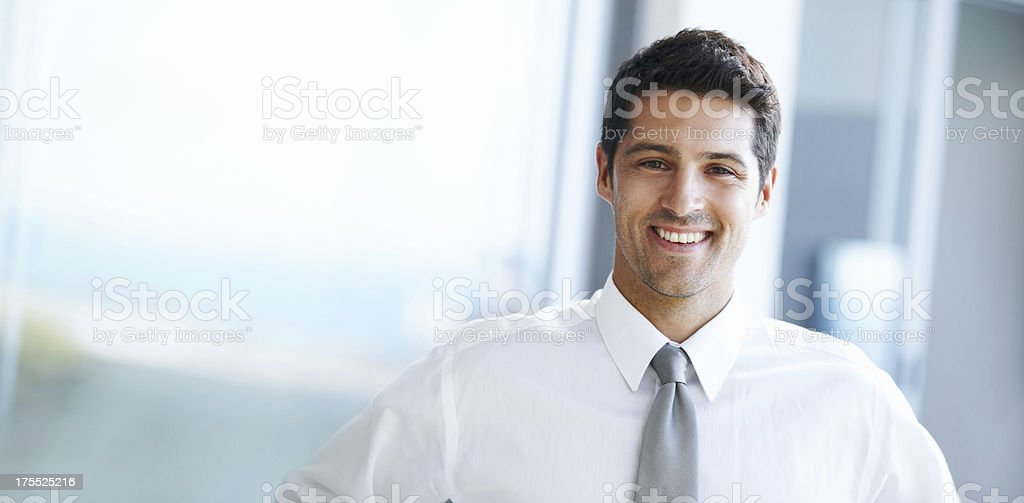 Ambitious executive stock photo