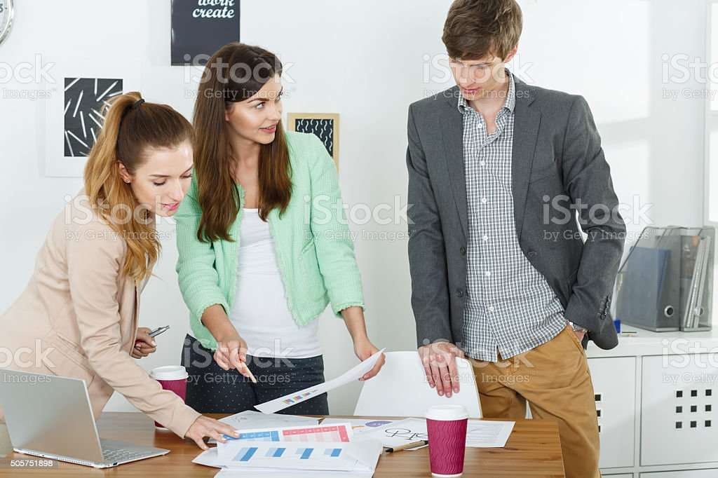 Ambitious people leading creative business stock photo