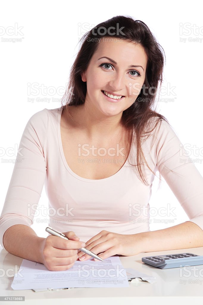 Ambitious student royalty-free stock photo