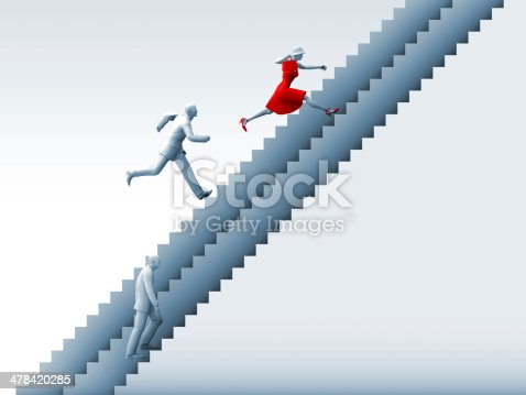 513121118istockphoto Ambitious Woman and Career Ladders 478420285