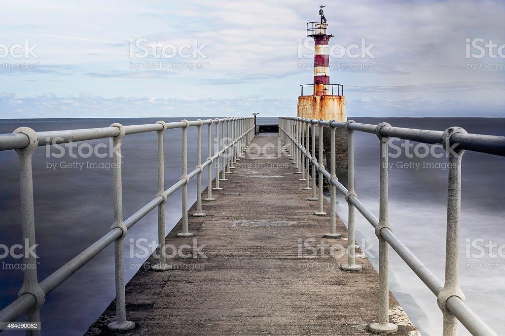 Amble Harbour, Northumberland, UK stock photo