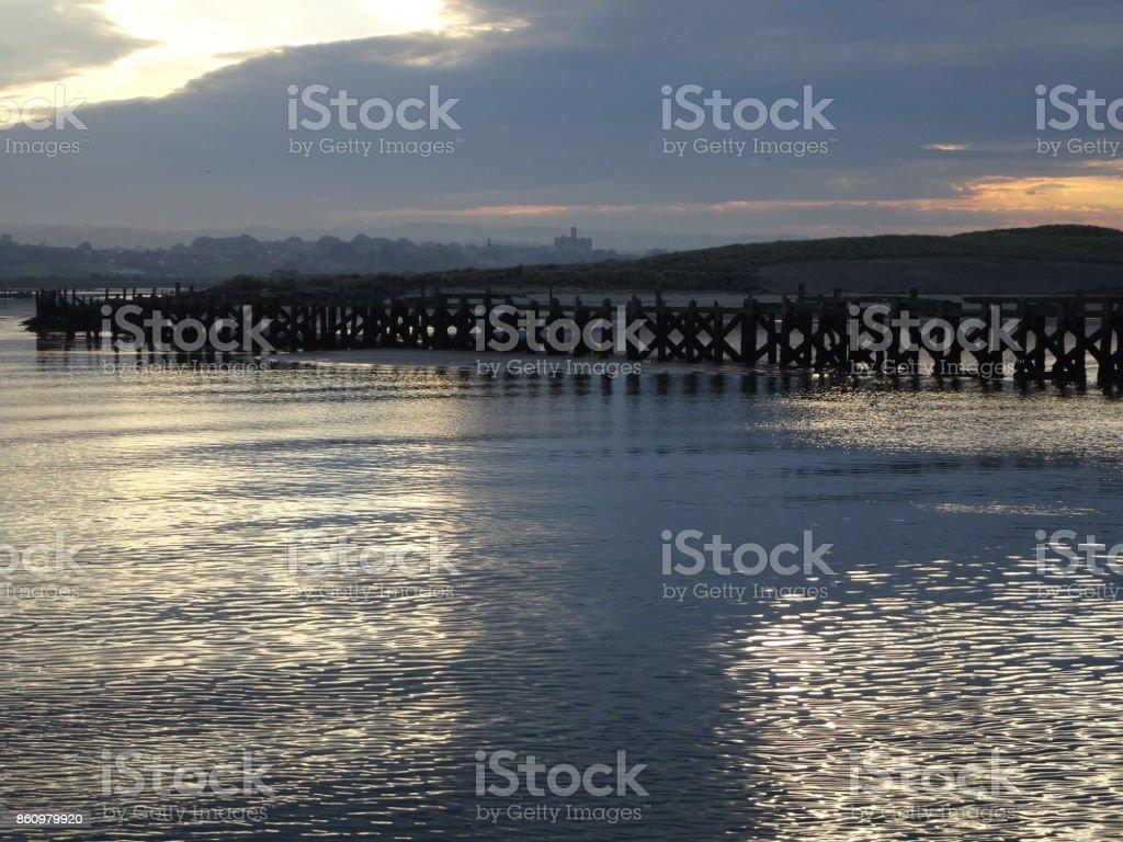Amble Harbourside stock photo