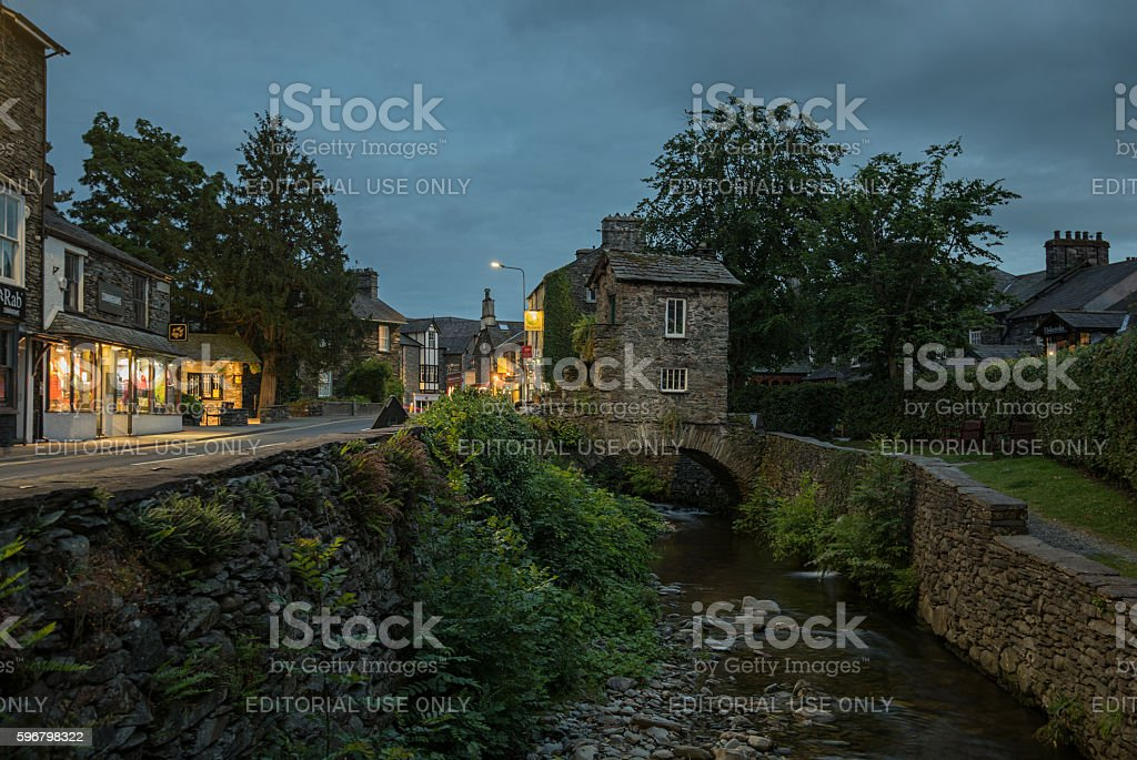 Ambleside in the Lake District National Park stock photo