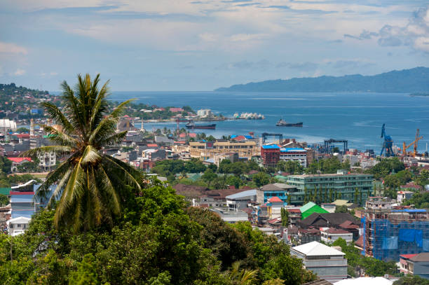 Ambon City, Indonesia stock photo