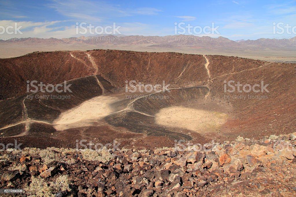 Amboy Crater Hiking Trail stock photo
