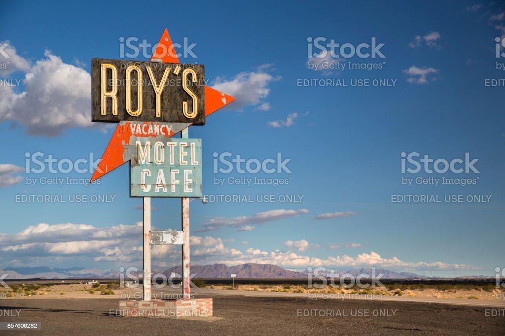 Amboy historic hotel sign California USA stock photo