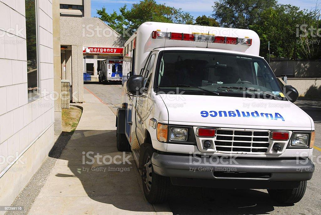 Ambulance at Emergency royalty-free stock photo