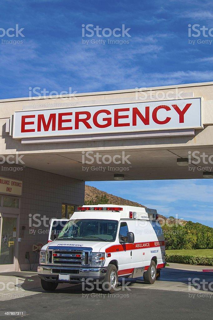 Ambulance at hospital royalty-free stock photo