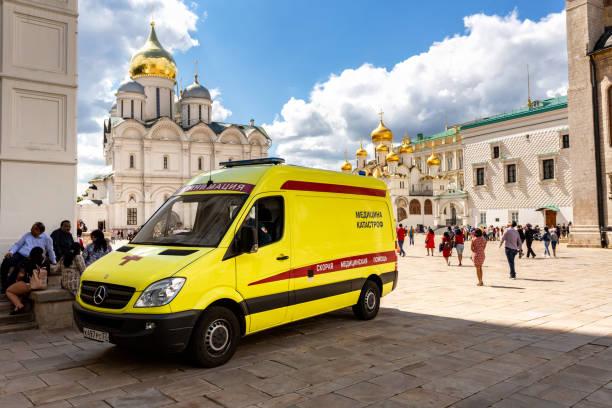 Krankenwagen auf dem Domplatz des Moskauer Kremls – Foto
