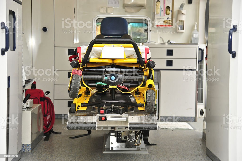 ambulance car inside - Krankenwagen von Innen royalty-free stock photo
