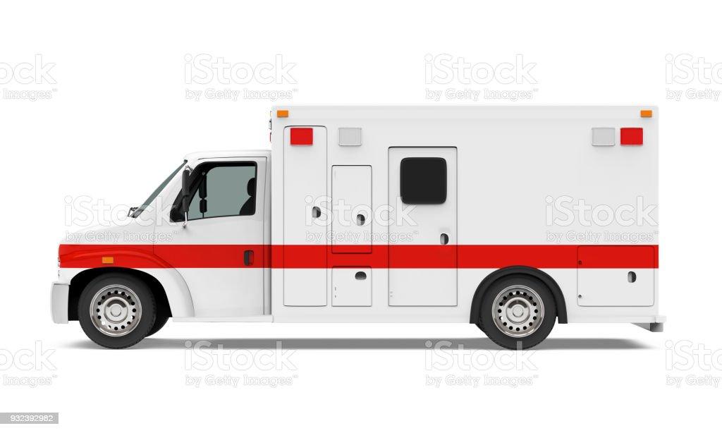 Coche ambulancia aislado - foto de stock