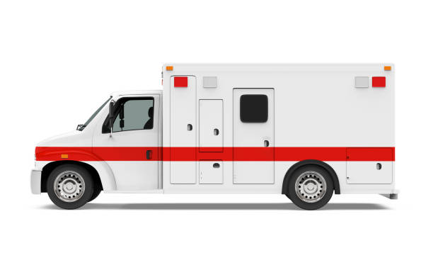 ambulance car isolated - ambulance stock photos and pictures