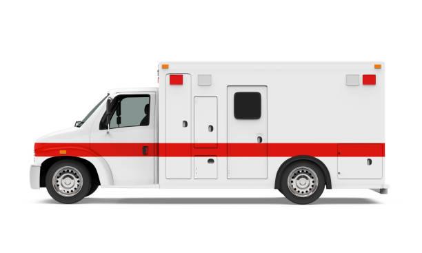 Ambulance Car Isolated stock photo