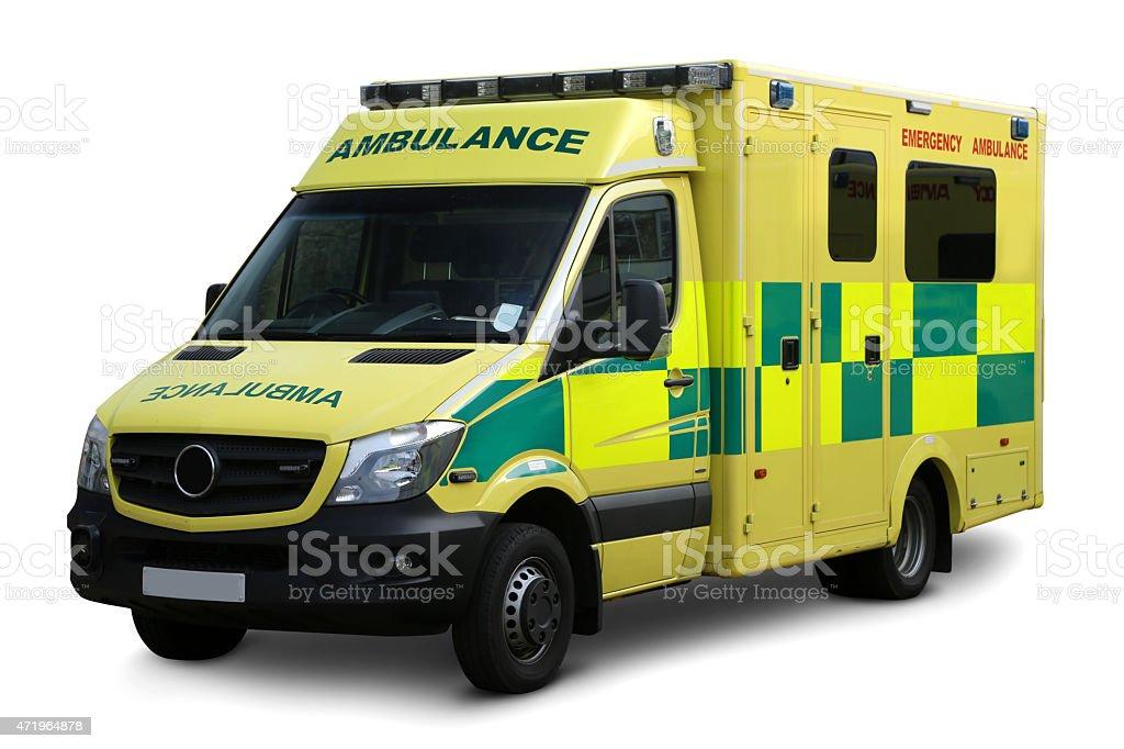 Ambulance Clipping path stock photo