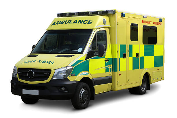 Ambulance Clipping path Ambulance on a white background issolated with clipping path military attack stock pictures, royalty-free photos & images