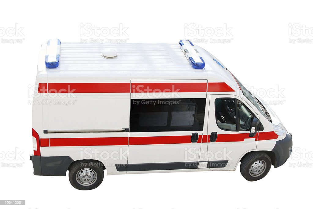 ambulance emergency car top perspective stock photo